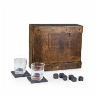Whiskey Box Gift Set, Oak Wood