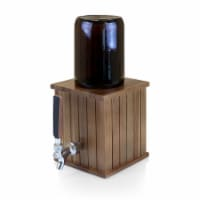 Growler Tap with 64 oz. Glass Growler, Acacia Wood
