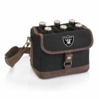 Las Vegas Raiders - Beer Caddy Cooler Tote with Opener - 9 x 5.5 x 6.8