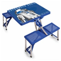 Star Wars R2-D2 - Picnic Table Portable Folding Table with Seats, Royal Blue