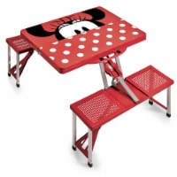 Disney Minnie Mouse - Picnic Table Portable Folding Table with Seats, Red