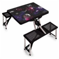 Star Wars Death Star - Picnic Table Portable Folding Table with Seats, Black