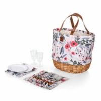 Promenade Picnic Basket, Floral Pattern