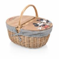 Disney Mickey & Minnie Mouse - Country Picnic Basket, Navy Blue & White Stripe