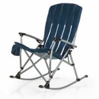 Outdoor Rocking Camp Chair, Navy Blue - 28 x 35.8 x 40.5