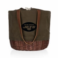 New York Jets - Coronado Canvas and Willow Basket Tote