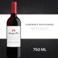 Menage a Trois Cabernet Sauvignon Red Wine 750mL Wine Bottle - 750 mL