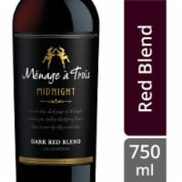 Menage a Trois Midnight Dark Red Blend Wine