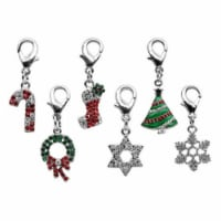 Holiday lobster claw charms / zipper pulls Wreath - 1