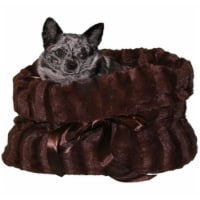 Brown Reversible Snuggle Bugs Pet Bed, Bag, and Car Seat in One - 1 unit