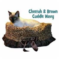 Cheetah Reversible Snuggle Bugs Pet Bed, Bag, and Car Seat in One - 1 unit