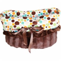 Fall Party Dots Reversible Snuggle Bugs Pet Bed, Bag, and Car Seat All-in-One - 1 unit