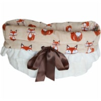 Foxy Reversible Snuggle Bugs Pet Bed, Bag, and Car Seat All-in-One - 1 unit
