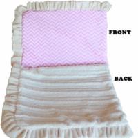 Mirage Pet 500-130 PkChFL Luxurious Plush Pet Blanket, Pink Chevron - Full Size