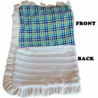 Mirage Pet 500-132 AqPdFL Luxurious Plush Pet Blanket, Aqua Plaid - Full Size