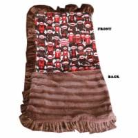 Luxurious Plush Pet Blanket Funky Monkey - 1 unit