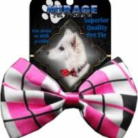 Mirage Pet Products Dog Bow Tie Plaid Pink - 1 unit