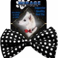 Mirage Pet Products Dog Bow Tie Swiss Dot Black - 1 unit