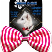 Mirage Pet Products Dog Bow Tie Stripes Pink - 1 unit