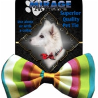 Mirage Pet Products Dog Bow Tie Funky Stripes - 1 unit