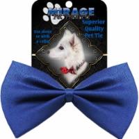 Mirage Pet Products Plain Blue Bow Tie - 1 unit