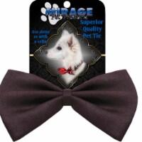 Mirage Pet Products Plain Brown Bow Tie - 1 unit