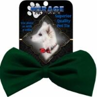 Mirage Pet Products Plain Emerald Green Bow Tie - 1 unit