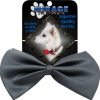 Mirage Pet Products Plain Grey Bow Tie - 1 unit