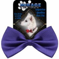 Mirage Pet Products Plain Purple Bow Tie - 1 unit