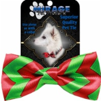 Mirage Pet Products Chevron Christmas Bow Tie - 1 unit