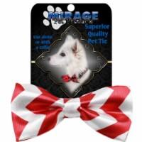 Mirage Pet 48-42 Dog Bow Tie, Red Chevron - 1