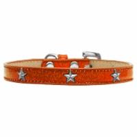 Silver Star Widget Dog Collar Orange Ice Cream Size 10 - 1