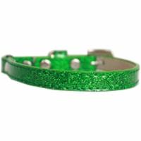 Ice Cream Plain Cat safety collar Emerald Green Size 10 - 1