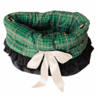 Red Plaid Reversible Snuggle Bugs Pet Bed, Bag, and Car Seat All-in-One - 1