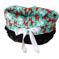 Green Plaid Reversible Snuggle Bugs Pet Bed, Bag, and Car Seat All-in-One - 1
