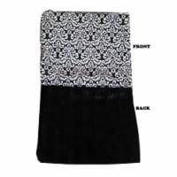 Mirage Pet 500-136 FnBkBB Luxurious Plush Big Baby Blanket, Fancy Black