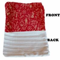 Luxurious Plush Pet Blanket Cream Holiday Whimsy Jumbo Size - 1