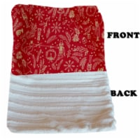 Luxurious Plush Carrier Blanket Red Holiday Whimsy - 1