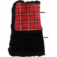 Luxurious Plush Big Baby Blanket Red Plaid - 1