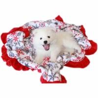 Mirage Pet 500-154 RSFBB Luxurious Plush Big Baby Blanket Red Snowflake