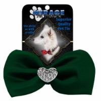 Crystal Heart Widget Pet Bowtie Brown - 1