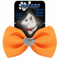 Crystal Heart Widget Pet Bowtie Navy Blue - 1