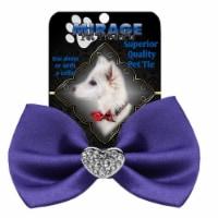 Mirage Pet 47-53 PR Crystal Heart Widget Pet Bowtie, Purple