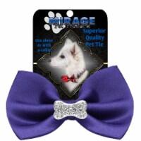 Mirage Pet 47-54 PR Crystal Bone Widget Pet Bowtie, Purple