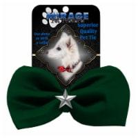 Mirage Pet 47-55 GR Silver Star Widget Pet Bowtie, Green