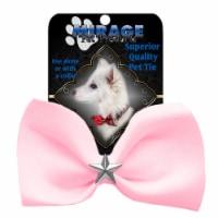 Mirage Pet 47-55 LPk Silver Star Widget Pet Bowtie, Light Pink