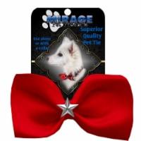 Mirage Pet 47-55 RD Silver Star Widget Pet Bowtie, Red
