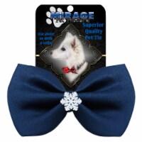 Mirage Pet 47-56 NV Snowflake Widget Pet Bowtie, Navy Blue