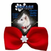 Mirage Pet 47-56 RD Snowflake Widget Pet Bowtie, Red