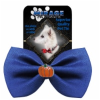 Mirage Pet 47-58 BL Pumpkin Widget Pet Bowtie, Blue